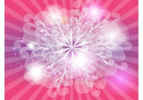 Vector dos redemoinhos cor-de-rosa