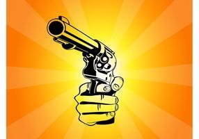 Pointing-gun-vector