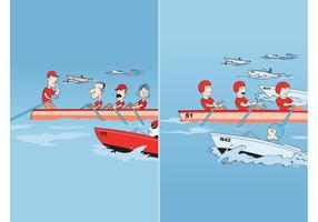 Course de bateau