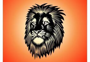 Löwenkopf Grafik