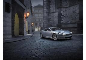 Silver Aston Martin DBS