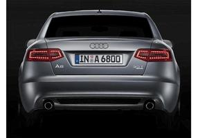 Silver Audi A6 3.0T Back