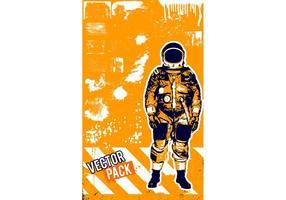 Vecteur d'astronaute