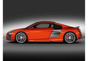 Orange Audi R8 vector