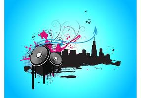 Musik Stadt Vektorgrafiken
