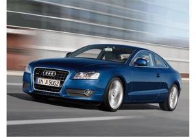 Blue Audi A5 Wallpaper