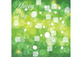 Groene vieringsgrafiek