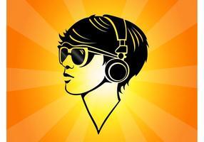 Auriculares de la muchacha