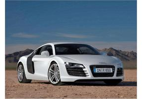 Audi R8 blanche