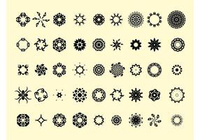 Runda ikoner vektorer