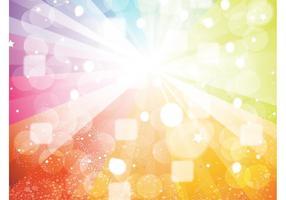 Vetor de raios de luz do arco-íris