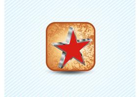 Red Star 3D Icon