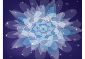 Vecteur de kaléidoscope violet