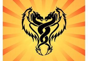 Zwillings-Drachen-Vektor