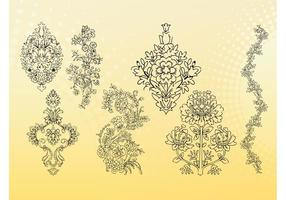 Outline Flowers Vectors