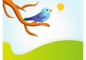 Sjungande Twitter Bird Vector