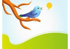 Cantar Twitter Bird Vector