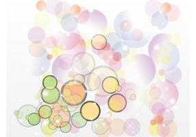 Retro Bubble Vector Achtergrond