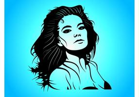 Bjork Vector Portrait