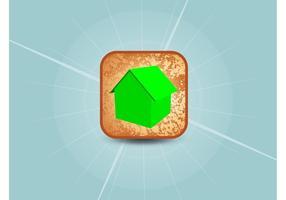 3d home vektor-symbol