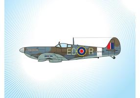 Spitfire fighter plan vektor