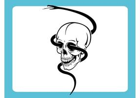 Skull With Snake Vector