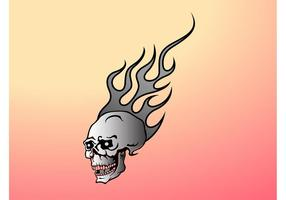 Gráfico flamejante do crânio