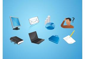 Office vector iconen pack