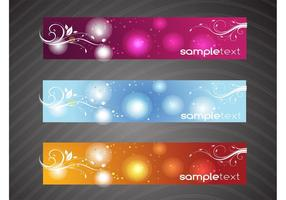 Floral Swirls Banners