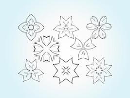 Vectores de bosquejo de flores