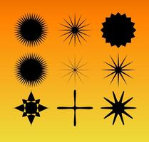 Star burst vector conjunto