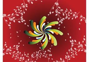 Red Floral Spiral Hintergrund