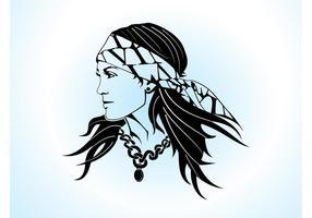 Zigeuner Frau Vektor