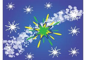 Green-star-background-design