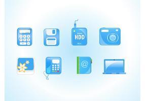 Elektronik ikoner vektorer