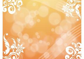 Orange-flowers-bubbles-background