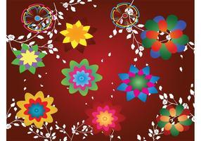 Desenho de design floral colorido
