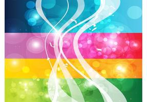 Rainbow Swirls Background Vector