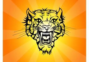 Vecteur tigre tatouage