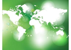 Vector verde del mapa del mundo