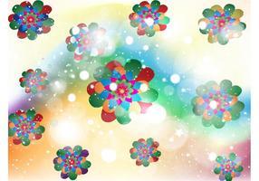 Floral Kaleidoscope Background