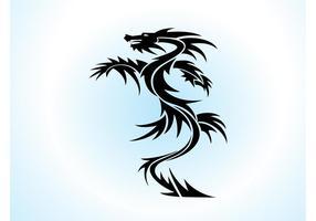 Dragón vector tatuaje