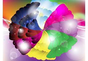 Rainbow Flower Vector Design