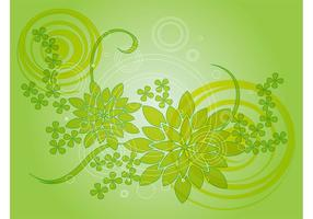 Green Flower Vector Design