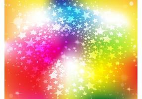 Bright Rainbow Stars Background