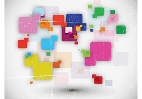 Abstract Squares Vector Collage