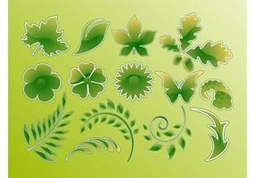Green-glossy-vector-leaves
