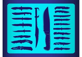 Vecteurs de couteaux gratuits