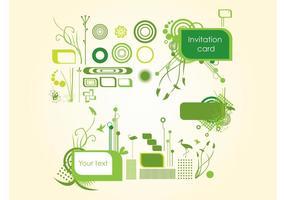 Organische Einladungsgrafik