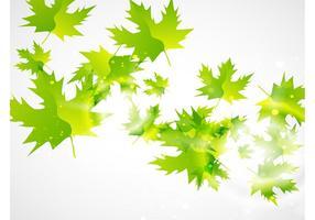 Fondo verde del vector de la hoja